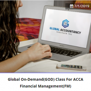 Global On-Demand(GOD) Class For ACCA Performance Management(PM)