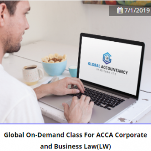 Global On-Demand Class For ACCA Corporate and Business Law(LW)