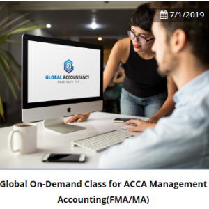 Global On-Demand Class for ACCA Management Accounting(FMA/MA)